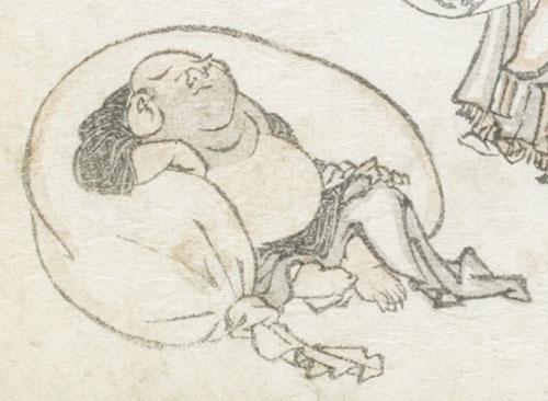 葛飾北斎『北斎漫画』初編(部分)(1814[文化11]年、浦上蒼穹堂)