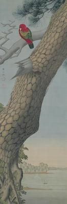 佐竹曙山《松に唐鳥図》<br/>一幅、江戸時代、18世紀、個人蔵、重要文化財<br />展示期間:11/16~12/12(無断転載禁止)