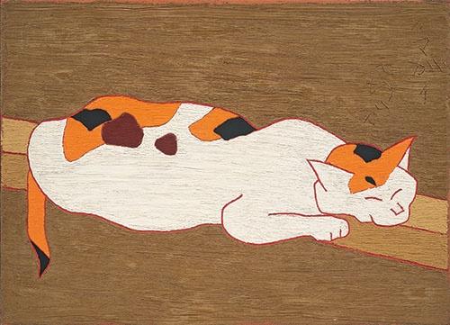 熊谷守一 《猫》 (1965年、愛知県美術館 木村定三コレクション)