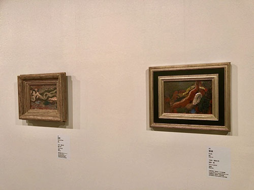 裸婦作品が並んだ会場の一画