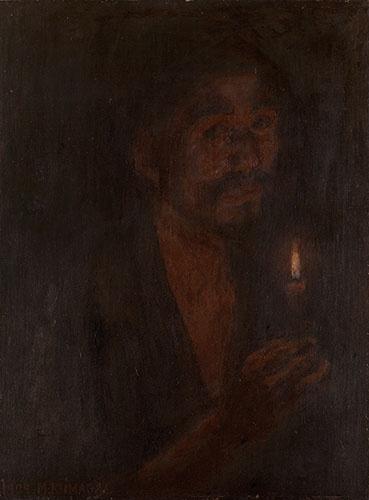 熊谷守一 《蠟燭(ローソク)》(1909年、岐阜県美術館)