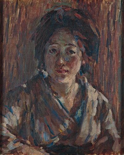 熊谷守一 《某夫人像》(1918年、豊島区立熊谷守一美術館)