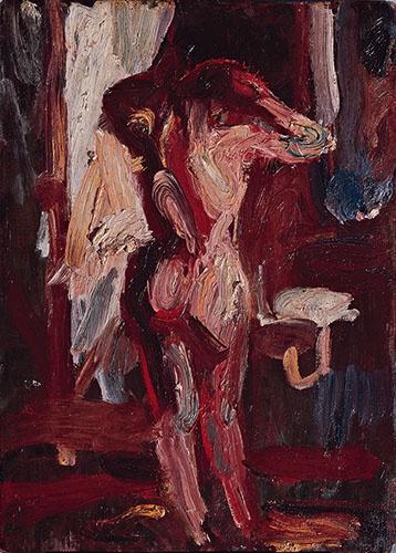 熊谷守一 《人物》(1927年、豊島区立熊谷守一美術館)