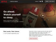 写真●「Netflix Socks」のWebサイト