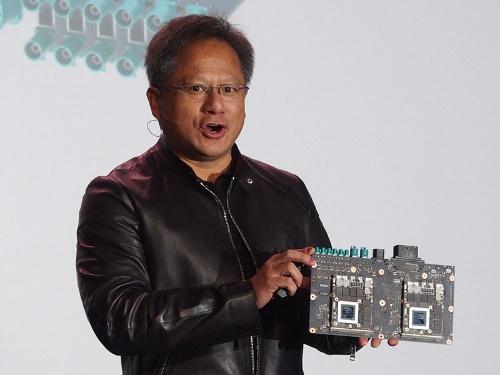 写真6●CES 2016で記者会見する米NVIDIAのJen-Hsun Huang CEO
