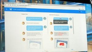 写真4●メッセージアプリケーションでやり取りされるセンシティブな情報を自動的に削除するイメージ図