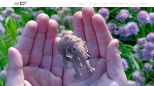 図●Magic LeapのWebサイト