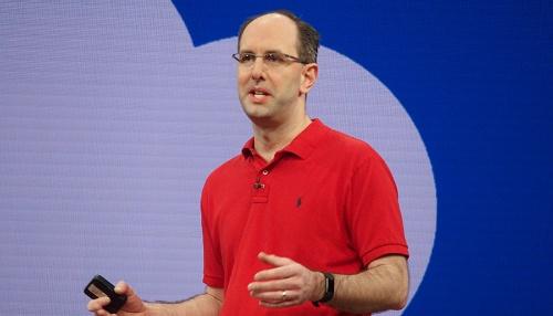 写真1●米Microsoftのクラウド&エンタープライズグループ担当エグゼクティブ・バイス・プレジデントであるScott Guthrie氏