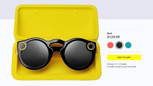 図●Snapが販売するカメラ付きメガネ「Spectacles」