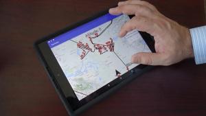 写真3●パイロット向け航空ナビアプリ