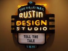 写真2●テキサス州オースチンにある「IBM Studio」のロゴ