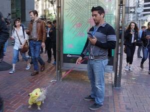 写真10●ピカチュウ犬と参加したプレーヤー