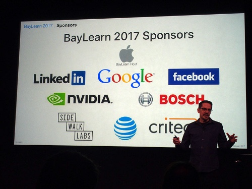 写真1●Apple本社で開催された「BayLearn 2017」