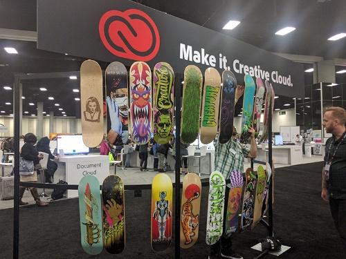 写真4●ワークショップで作成したスケートボード
