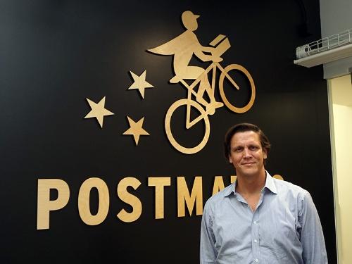 写真3●米PostmatesのHolger Luedorf上級副社長
