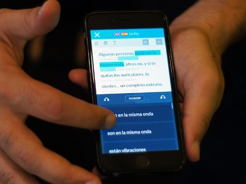 写真2●Unbabelが自社開発した機械翻訳ソフトの画面