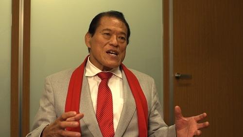 新日本プロレス元社長・アントニオ猪木。プロレスは世界一の格闘技であるとうたい、選手たちを鍛え、佐山の才能を見出した