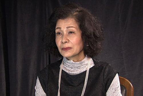 女優 白川和子。ロマンポルノ第1作『団地妻 昼下りの情事』の主演女優。白川は「映画の火を消してはならない」という強い決意を抱いて撮影現場に臨んだ