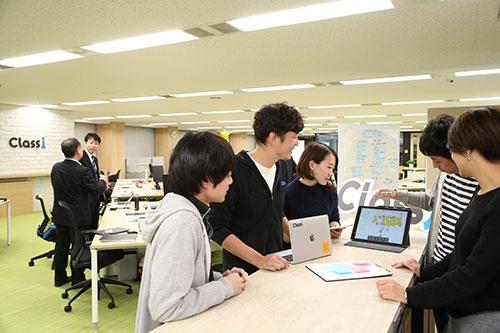 学習アプリの開発を手掛けるクラッシーのオフィス(写真:陶山 勉)