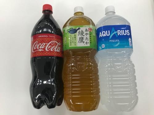 値上げの対象商品は大型ペットボトル商品だ。