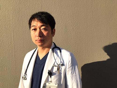 2月から暫定的に高野病院院長に就任する中山祐次郎医師(写真:竹井俊晴)