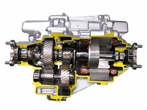 アイシン精機のグループ3社が共同開発した電動式四輪駆動システム。トヨタの新型「プリウス」に採用された