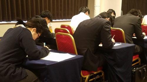 参加者全員が筆記試験に進んだ