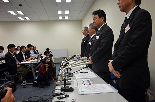 悪意があったかどうかについて、質問と回答が噛み合わない場面も(9月23日、東京証券取引所)
