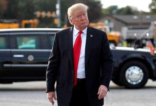 トランプ大統領は「素晴らしい成功」と中間選挙を総括した(写真:ロイター/アフロ)