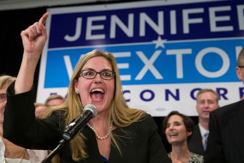 郊外の女性票が注目を集めたバージニア10区は民主党候補が共和党現職を破った(AP/アフロ)