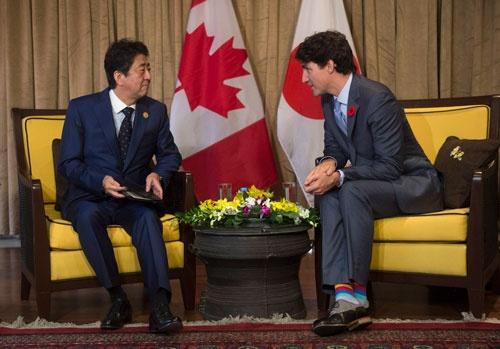 <span>カナダのトルドー首相の予定外の異議にあったが、TPP11は大筋合意に達した</span>(写真:Press Association/アフロ)