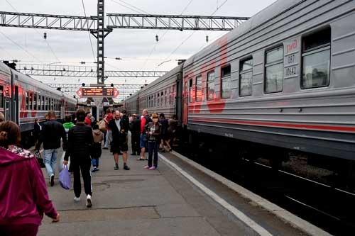 イルクーツク駅に到着!