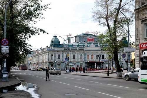 イルクーツク中心部。カール・マルクス通り