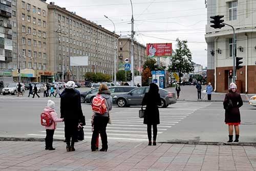 ノヴォシビルスクの中心部。町並みにはあまり特徴がない