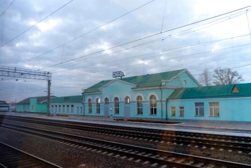 オビ川の近くにあるオビ駅