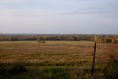 大都市の間にもこうした広々とした原野が広がっている