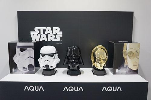 MASK保冷庫。第1弾のダース・ベイダー(中央)に加えて、ストームトルーパー(左)とC-3PO(右)を発売した(写真:© & ™ Lucasfilm Ltd.、以下同)
