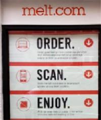 「ザ・メルト」は自社が提供する購買体験を、ORDER→SCAN→ENJOYという3ステップで説明している
