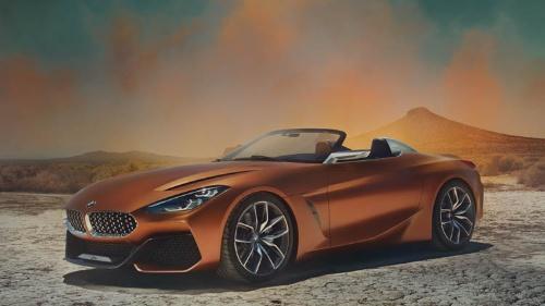 BMWのほうではオープンモデルになる予定。これがデザイン試作車の「BMWコンセプトZ4」