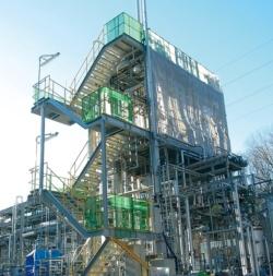埼玉県寄居町のゴミ処理施設に併設したエタノール化施設のパイロットプラント