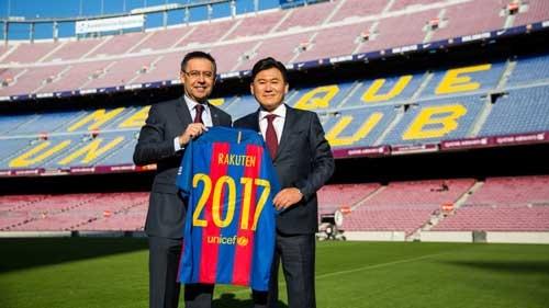 スペインの名門サッカークラブ「バルセロナ」とスポンサー契約を交わし、グローバルでのブランド力向上も狙う