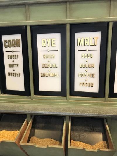 バーボンの原料となるコーン、ライ麦、大麦