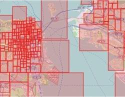 <b>エアビーが米サンフランシスコで設定している街区。通りやエリアごとに細かく価格帯を変えて、最適な値付けに利用する</b>