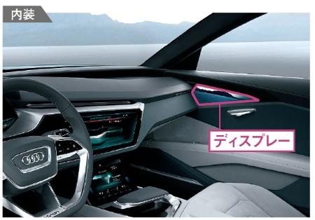 <b>独アウディのコンセプト車では、カメラで撮影した映像をドアトリムに 設置したディスプレーに表示していた</b>