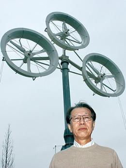 <b>九州大学の大屋裕二教授は複数の風車を組み合わせたマルチローターシステムを開発</b>
