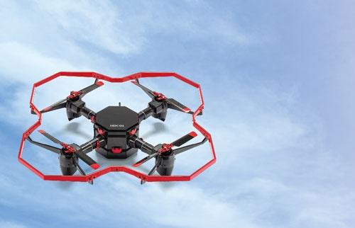 デンソーがヒロボーと共同開発しているドローン「UAV HDC01」