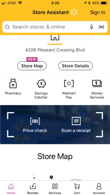 大幅に機能が拡充されたウォルマートのショッピングアプリ