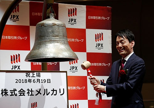 6月19日、メルカリが東証マザーズに上場(写真:ロイター/アフロ)