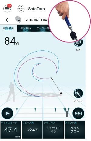 ●「M-Tracer For Golf」で測定したスイング時のクラブの軌道