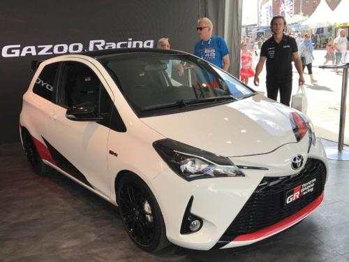 ヤリスをベースにGRが開発したスポーツモデルの「トヨタ ヤリスGRMN」。現時点では欧州市場のみでの発売となっているが、将来的には日本への導入も期待される(写真:藤野太一)